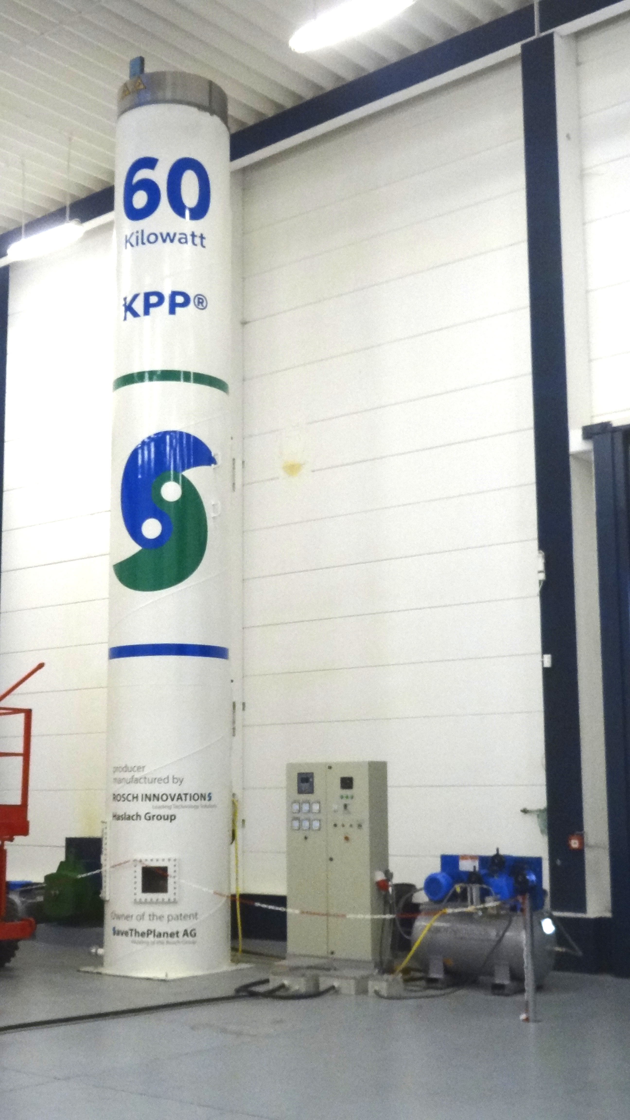 kinetic power plant 60 kW front view