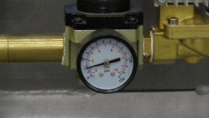 kinetic power plant compressor line out pressure meter